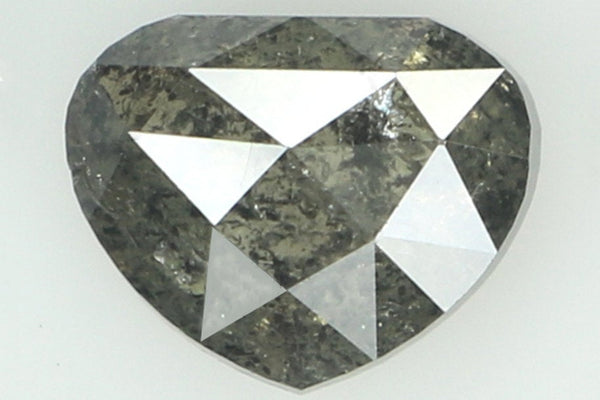 Natural Loose Diamond Heart Black Gray Color I2 Clarity 5.90 MM 0.74 Ct KR1487