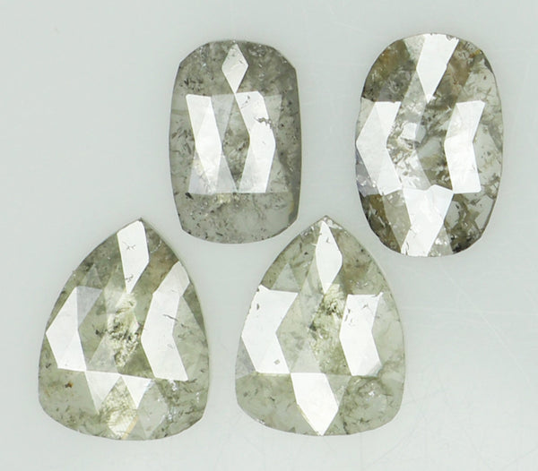 Natural Loose Diamond Mix Shape Grey Color I3 Clarity 4 Pcs 1.35 Ct L6915