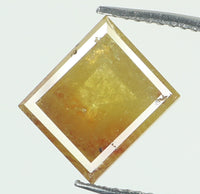 Natural Loose Diamond Square Brown Yellow Color I3 Clarity 7.40 MM 1.81 Ct L6657