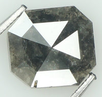Natural Loose Diamond Radiant Black Color I3 Clarity 6.00 MM 0.77 Ct KR1524