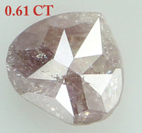 Natural Loose Diamond Heart Pink Color I3 Clarity 5.50 MM 0.61 Ct KR1525