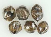 2.87 Ct Natural Loose Diamond Rough Brown Color I3 Clarity 6 Pcs KR1703