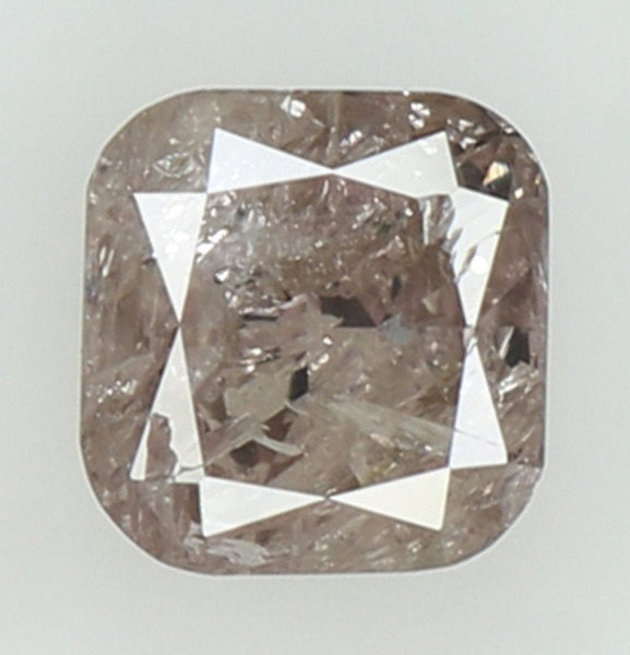 Natural Loose Diamond Cushion Brown Pink Color I3 Clarity 4.20 MM 0.38 Ct KR1539
