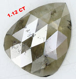 Natural Loose Diamond Pear Green Black Color I3 Clarity 9.10 MM 1.12 Ct L6972