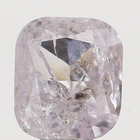 Natural Loose Diamond Cushion Light Pink Color I2 Clarity 3.80 MM 0.23 Ct KR1575