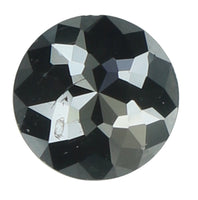 Natural Loose Diamond Round Rose Cut Black Color I3 Clarity 4.50 MM 0.37 Ct KR1582