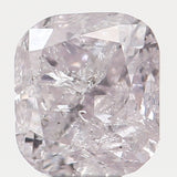 Natural Loose Diamond Cushion Light Pink Color I2 Clarity 3.10 MM 0.16 Ct L6722