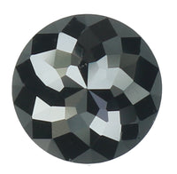Natural Loose Diamond Round Rose Cut Black Color I3 Clarity 6.10 MM 1.14 Ct KR1641