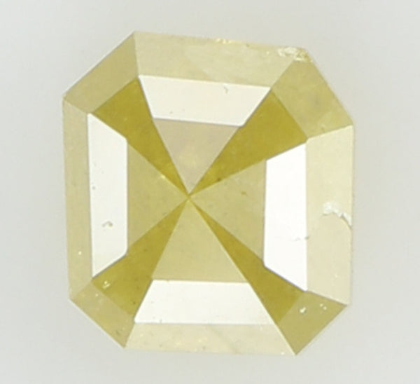 Natural Loose Diamond Radiant Yellow Color I3 Clarity 4.90 MM 0.77 Ct L6831
