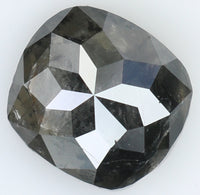 Natural Loose Diamond Cushion Black Grey Color I3 Clarity 7.80 MM 1.86 Ct L7142