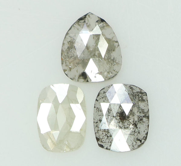 Natural Loose Diamond Mix Shape Grey Color I3 Clarity 3 Pcs 1.08 Ct L6913