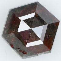 Natural Loose Diamond Hexagon Brown Color I3 Clarity 6.40 MM 1.40 Ct L7203