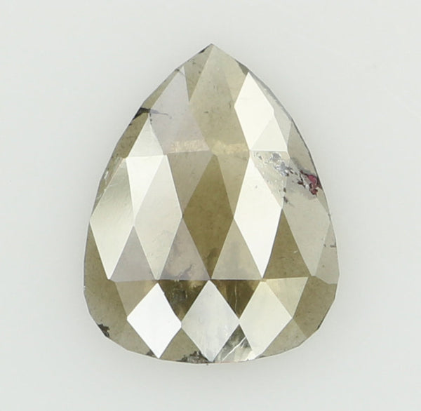 Natural Loose Diamond Pear Grey Brown Color I3 Clarity 9.10 MM 0.94 Ct KR1701