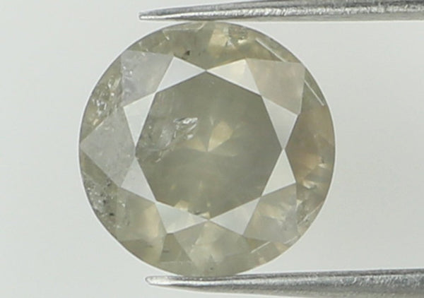 Natural Loose Diamond Round Grey Color I3 Clarity 5.90 MM 0.79 Ct KR1779