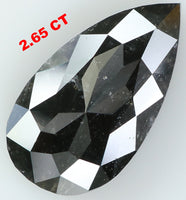 2.65 Ct Natural Loose Diamond Pear Black Color I3 Clarity 13.35 MM L7199