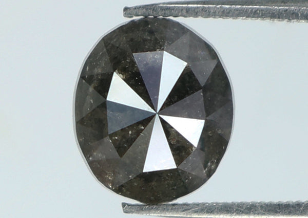 Natural Loose Diamond Oval Black Color I3 Clarity 6.50 MM 1.26 Ct L7325