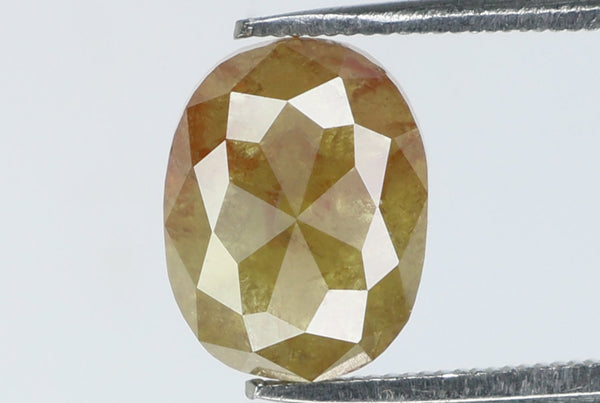 Natural Loose Diamond Oval Brown Yellow Color I3 Clarity 6.80 MM 1.33 Ct L7328