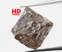 Natural Loose Diamond Rough Brown Color I3 Clarity 6.00 MM 1.75 Ct L7216