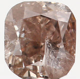 Natural Loose Diamond Cushion Brown Color I1 Clarity 2.70 MM 0.12 Ct KR815