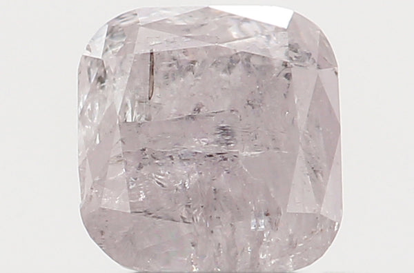 Natural Loose Diamond Cushion Light Pink Color I3 Clarity 3.90 MM 0.36 Ct KR1792