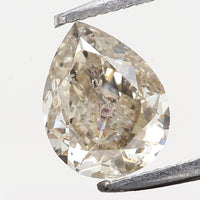 Natural Loose Diamond Pear Yellow Grey Color I2 Clarity 4.90 MM 0.33 Ct L7381