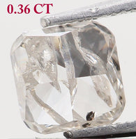 Natural Loose Diamond Cushion Yellow Grey Color I2 Clarity 3.90 MM 0.36 Ct KR1811