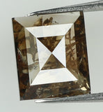 Natural Loose Diamond Square Brown Color I3 Clarity 6.30 MM 0.85 Ct L7436
