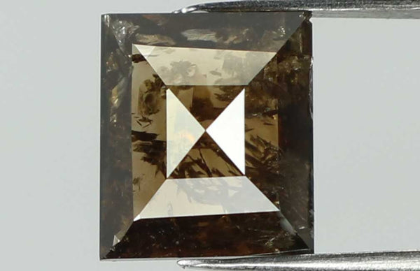 Natural Loose Diamond Square Brown Color I3 Clarity 7.10 MM 1.10 Ct L7435