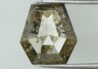 Natural Loose Diamond Coffin Brown Color I3 Clarity 6.40 MM 0.60 Ct L7438