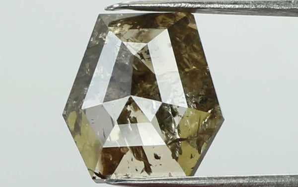 Natural Loose Diamond Coffin Brown Color I3 Clarity 6.30 MM 0.70 Ct L7437