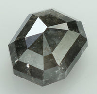 Natural Loose Diamond Emerald Black Grey Salt And Pepper Color I2 Clarity 5.80 MM 0.91 Ct KR175
