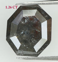 Natural Loose Diamond Antique Grey Color I3 Clarity 6.60 MM 1.26 Ct KR1069