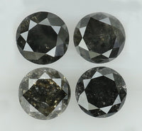 Natural Loose Diamond Round Black Color I3 Clarity 4 Pcs 1.02 Ct KR1829
