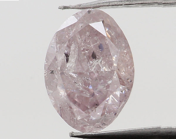 Natural Loose Diamond Oval Pink Color I2 Clarity 6.40 MM 0.66 Ct L7493