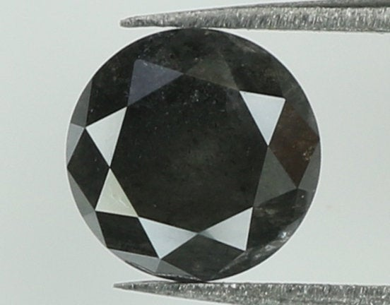 Natural Loose Diamond Round Black Grey Color I3 Clarity 5.10 MM 0.62 Ct KR1831