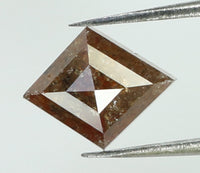Natural Loose Diamond Kite Brown Color I2 Clarity 6.95 MM 0.69 Ct L7549