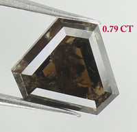 Natural Loose Diamond Triangle Black Brown Color I3 Clarity 5.70 MM 0.79 Ct KR1791