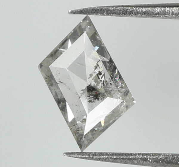 Natural Loose Diamond Kite Black Grey Salt And Pepper Color I2 Clarity 5.00 MM 0.33 Ct KR1854