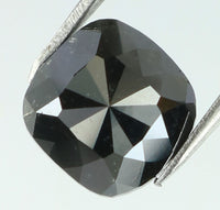 Natural Loose Diamond Cushion Black Color I3 Clarity 6.80 MM 1.31 Ct L7640