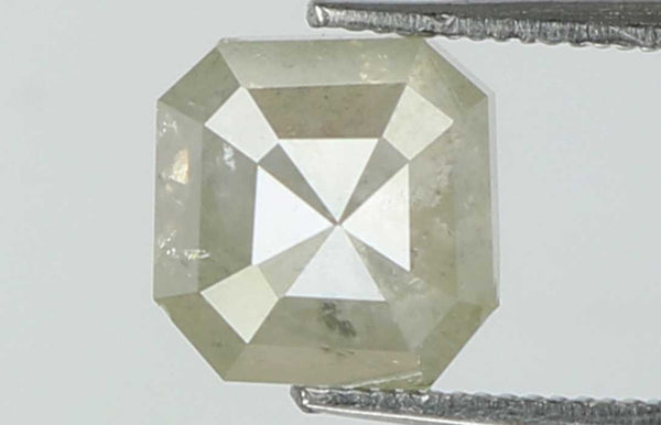 Natural Loose Diamond Radiant Grey Color I2 Clarity 5.10 MM 0.87 Ct L7430