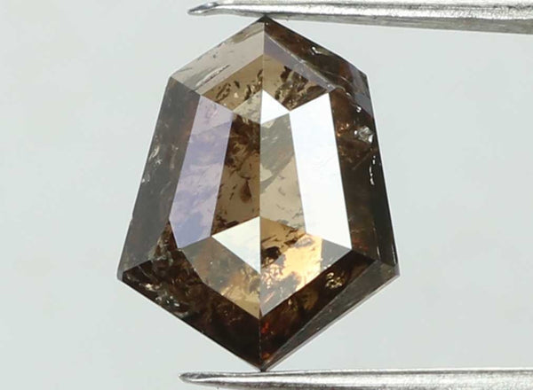 Natural Loose Diamond Shield Deep Brown Color I3 Clarity 7.70 MM 0.76 Ct L7431