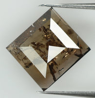Natural Loose Diamond Square Brown Color I3 Clarity 8.00 MM 1.30 Ct L7433