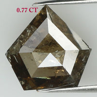 Natural Loose Diamond Shield Brown Color I3 Clarity 7.10 MM 0.77 Ct KR1817