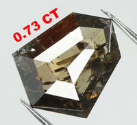 Natural Loose Diamond Shield Brown Color I3 Clarity 7.80 MM 0.73 Ct L7440