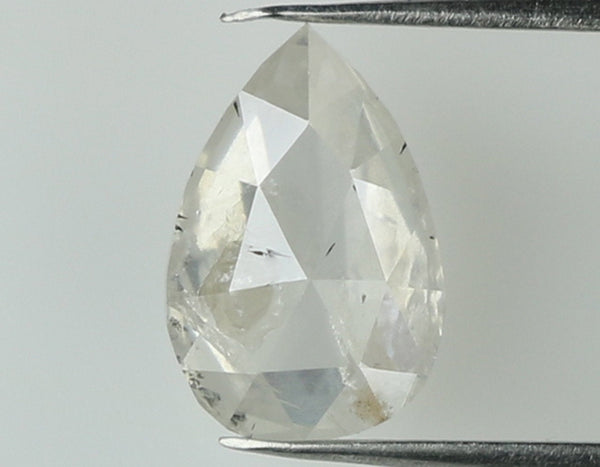 Natural Loose Diamond Pear Grey White Color I2 Clarity 7.20 MM 0.74 Ct L7463