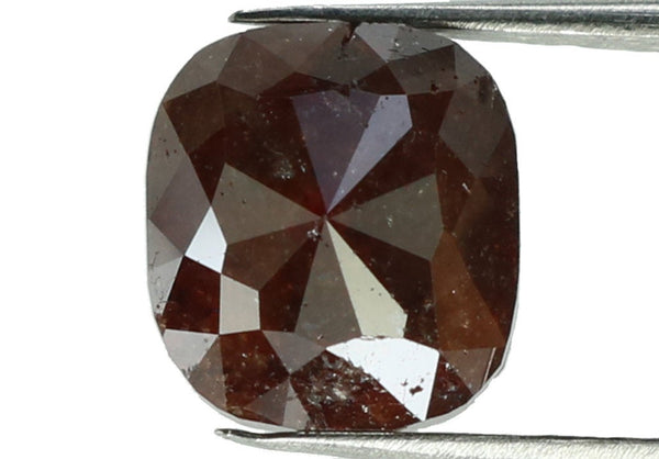Natural Loose Diamond Cushion Brown Color I3 Clarity 7.10 MM 2.18 Ct KR114