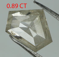 Natural Loose Diamond Shield White Color I3 Clarity 7.60 MM 0.89 Ct L7654