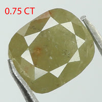 Natural Loose Diamond Cushion Green Color I3 Clarity 5.34 MM 0.75 Ct L7655