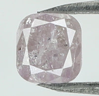 Natural Loose Diamond Cushion Pink Color I3 Clarity 3.50 MM 0.32 Ct KR1865
