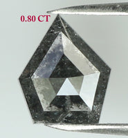 Natural Loose Diamond Shield Black Color I3 Clarity 6.60 MM 0.80 Ct L7662